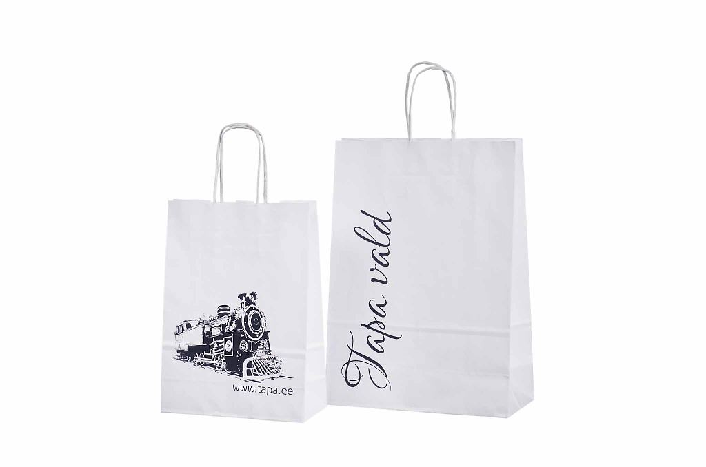 White Paper Bag With Logo Galleri White Paper Bags With