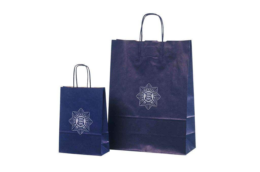 Blue Paper Bag With Print Galleri Blue Paper Bags With