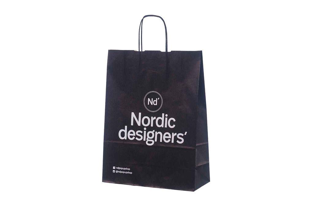 Black Kraft Paper Bag With Print Galleri Black Paper